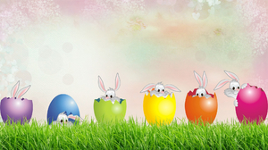 Bunny Easter Easter Egg Grass Holiday 1920x1080 Wallpaper