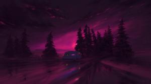 Sky Purple Van 1920x1080 wallpaper
