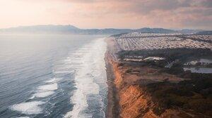 Landscape Nature Portrait Display Beach Waves Sea Cliff 1638x2048 Wallpaper