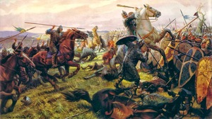 Battle Of Hastings Knights Military Army History Artwork War 1526x854 Wallpaper
