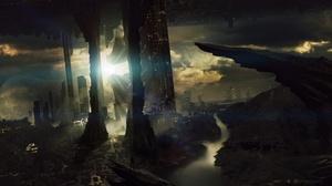 Sci Fi Landscape 2560x1440 Wallpaper