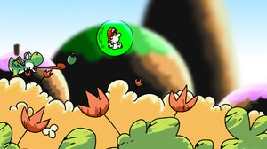Yoshi Super Mario Yoshis Island Super Mario World 2 Video Games 1920x1200 Wallpaper
