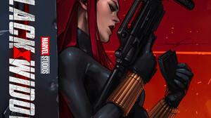 Women Comic Art Artwork Black Widow Marvel Comics Girls With Guns Redhead Weapon 1920x2318 Wallpaper
