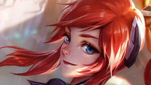 Girl Blue Eyes Red Hair 1920x1133 Wallpaper