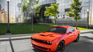 Car Dodge Dodge Challenger Dodge Challenger Srt Muscle Car Red Car Vehicle 3000x2068 Wallpaper