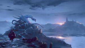 Omer Tunc Digital Art Fantasy Art Dragon 1920x1093 wallpaper