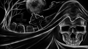 Cross Skull 2560x1550 Wallpaper