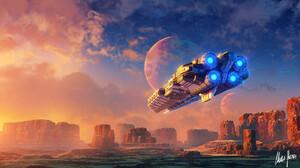 Artwork Science Fiction Spaceship 1920x1080 Wallpaper