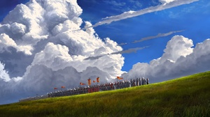 Cloud Knight Warrior 3840x1920 Wallpaper