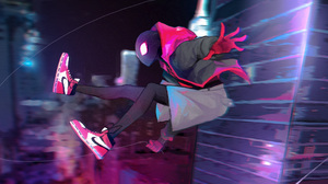 Miles Morales Spider Man Spider Man Into The Spider Verse 3600x1800 Wallpaper