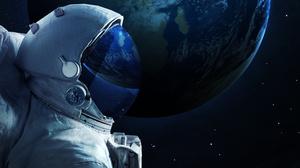 Astronaut Space Stars 5200x3250 wallpaper