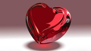 3d Abstract Cgi Digital Art Glass Heart Love 1920x1200 Wallpaper