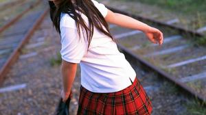 Women Actress Singer Women Outdoors Japanese Women Asian Railway Long Hair 1088x1454 Wallpaper