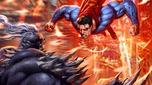 DC Comics Comic Books Comics Superman Doomsday Fighting Portrait Display Artwork 1666x2560 Wallpaper