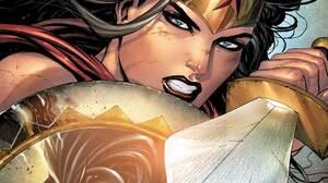 Wonder Woman DC Comics Superhero Costumes Sword Shield Comics Comic Art Fantasy Art Artwork 1920x1080 Wallpaper