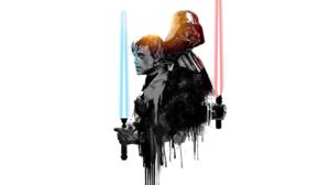 Minimalist Lightsaber Darth Vader Luke Skywalker 2765x1728 wallpaper