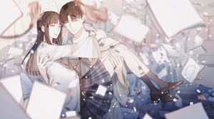 Anime Anime Girls Anime Boys Anime Couple Original Characters 3833x2480 wallpaper