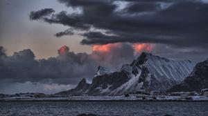 Arctic Cloud Lofoten Islands Mountain Norway Scandinavia Sea Seashore Village 4928x3280 Wallpaper