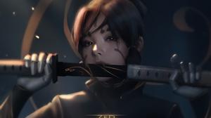Girl Katana Samurai Warrior 1920x1178 Wallpaper