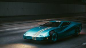 Cyberpunk 2077 4K Car Light Blue Road City Night Quadra Turbo R 740 3840x2160 Wallpaper