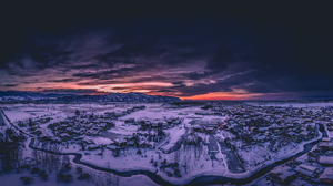 Landscape Snow Winter Snow Covered Sunset Clouds Nature Photography Mountains 1920x999 Wallpaper