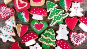 Christmas Cookie Gingerbread Heart 2560x1669 Wallpaper