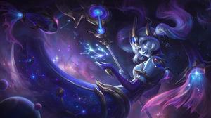 Nami Nami League Of Legends League Of Legends Riot Games Cosmic Break Destiny Space Stars Galaxy Sup 7680x4320 Wallpaper