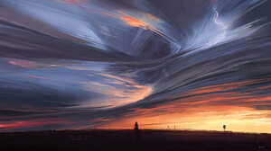 Artwork Digital Art Sunset Clouds Aenami 1920x1080 Wallpaper