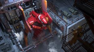 Anime Neon Genesis Evangelion EVA Unit 02 Pang Zaizhi High Angle Aerial View Science Fiction 4700x2000 Wallpaper