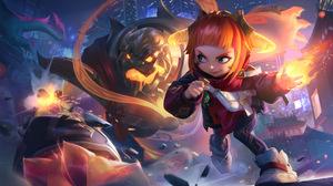 Annie Annie League Of Legends League Of Legends Riot Games Teddie Fire 7680x4320 Wallpaper