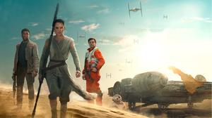 Bb 8 Daisy Ridley Finn Star Wars John Boyega Oscar Isaac Poe Dameron Rey Star Wars Star Wars Star Wa 2797x2048 Wallpaper