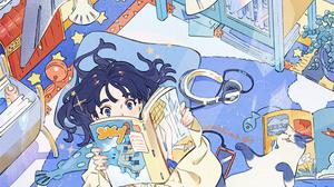Anime Anime Girls Digital Art Artwork 2D Portrait Display Vertical Umisima Osakana Room 992x1405 Wallpaper