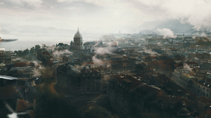 Building City Smoke 2225x1080 Wallpaper