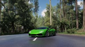 Forza Horizon 3 Lamborghini Huracan Lamborghini Car Screen Shot Video Games Supercars Green Cars Veh 1920x1080 Wallpaper