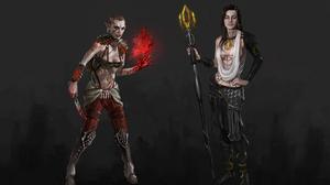 Crossover Dragon Age Jack Mass Effect Mage Mass Effect Miranda Lawson 2880x1800 Wallpaper