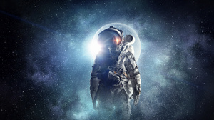 Astronaut Space Artwork Flares 4300x2345 Wallpaper