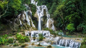 Earth Forest Green Rock Waterfall 1920x1280 Wallpaper