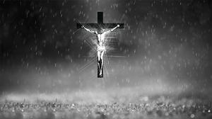Black Amp White Christian Cross Jesus 1920x1080 Wallpaper