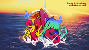 Panty And Stocking With Garterbelt Album Covers Anarchy Panty Anarchy Stocking 1920x1080 wallpaper
