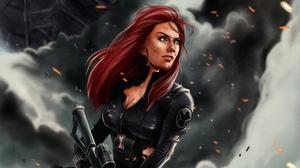 Marvel Comics Marvel Cinematic Universe Black Widow Santtos Denilson 3840x2279 Wallpaper