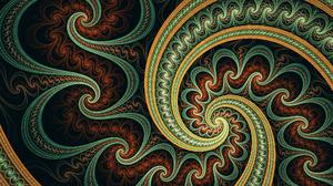 Abstract Artistic Digital Art Fractal Spiral 2560x1440 Wallpaper