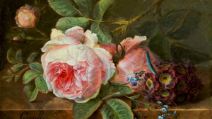 Artistic Flower Painting Pink Rose Rose Still Life 2484x1889 wallpaper