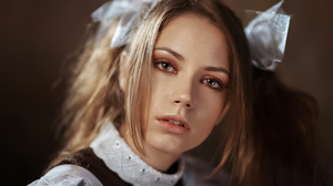 Maxim Maximov Women Ksenia Kokoreva Brunette Hair Accessories Portrait Makeup Eyeshadow Open Mouth S 2048x1363 Wallpaper
