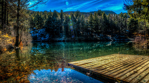 Hdr Nature Reflection Sky Sunshine Water 2048x1355 Wallpaper