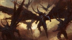 Fantasy Demon 2880x1080 Wallpaper