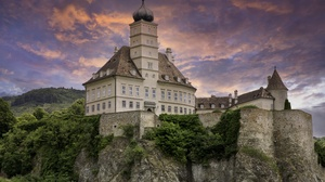 Hungary Rock Schloss Schonbuhel 5368x3444 wallpaper