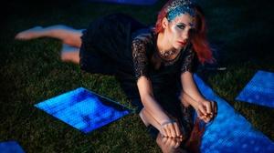 Marina Pankratova Girl Style Makeup Dress Mirror Model 2560x1707 Wallpaper