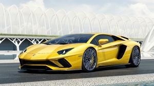 Lamborghini Lamborghini Aventador S Sport Car Supercar Vehicle Yellow Car 5120x2880 Wallpaper
