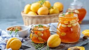 Apricot Fruit Jam Still Life 2000x1125 Wallpaper