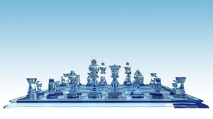 3d Artistic Cgi Chess Digital Art Game Glass 1920x1080 Wallpaper